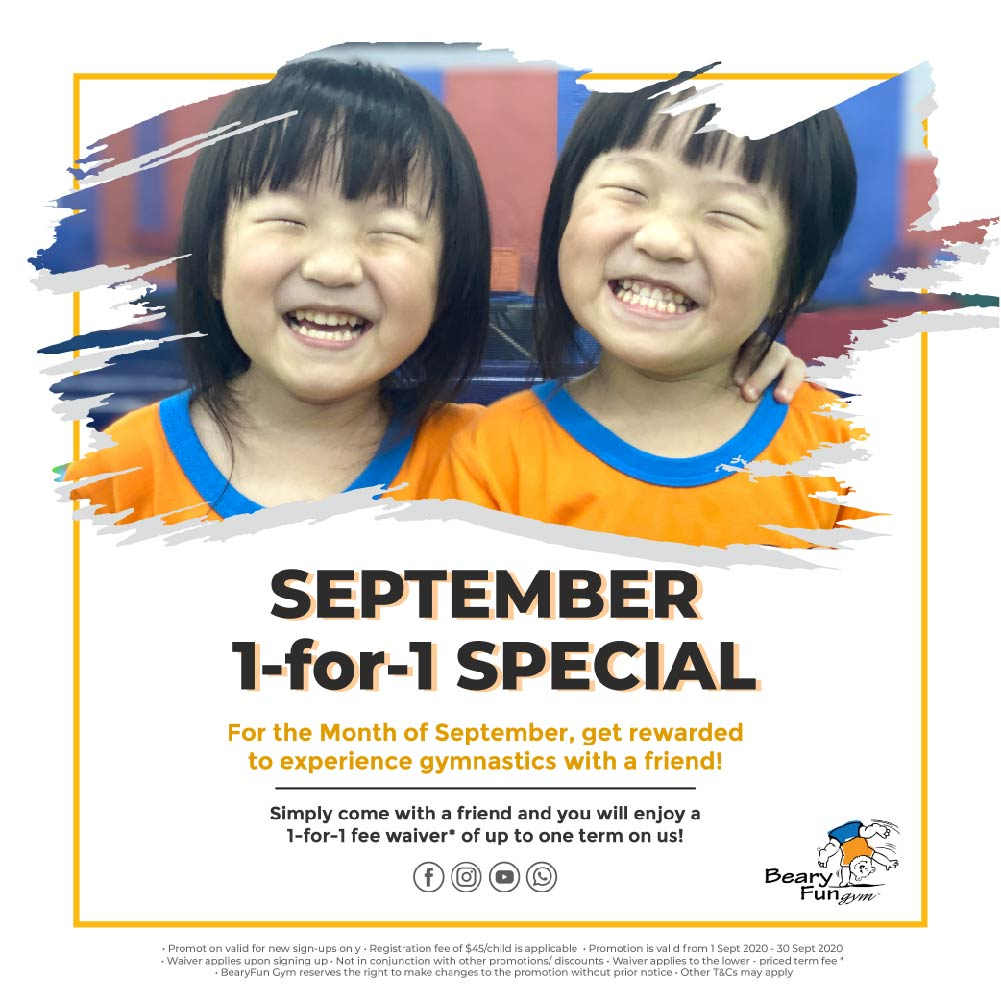 September special 1-for-1 promotion